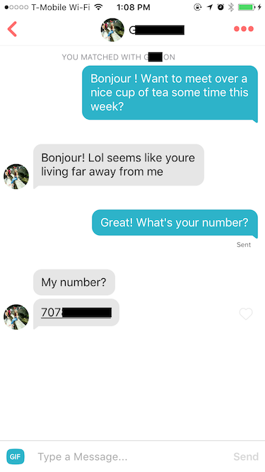 Sending your first online dating message