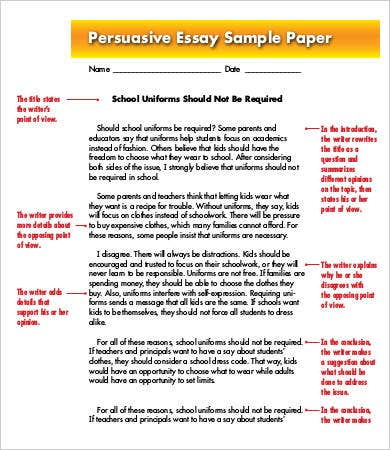Write my example of pursuasive essay