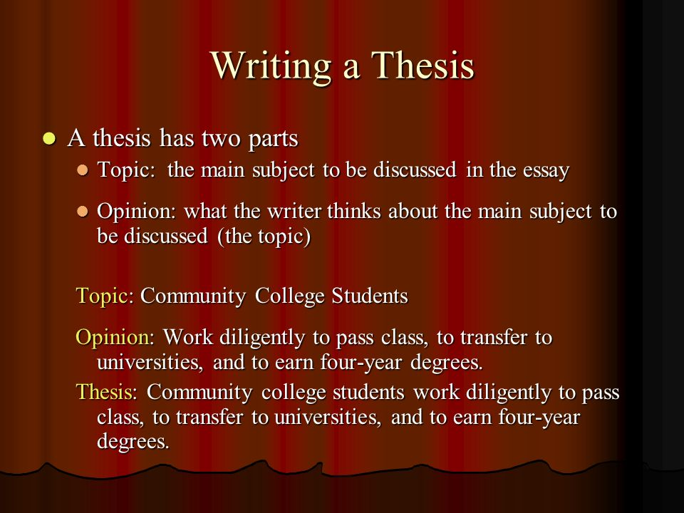 Thesis about