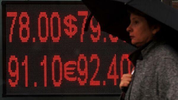 Рубль растет кдоллару иевро