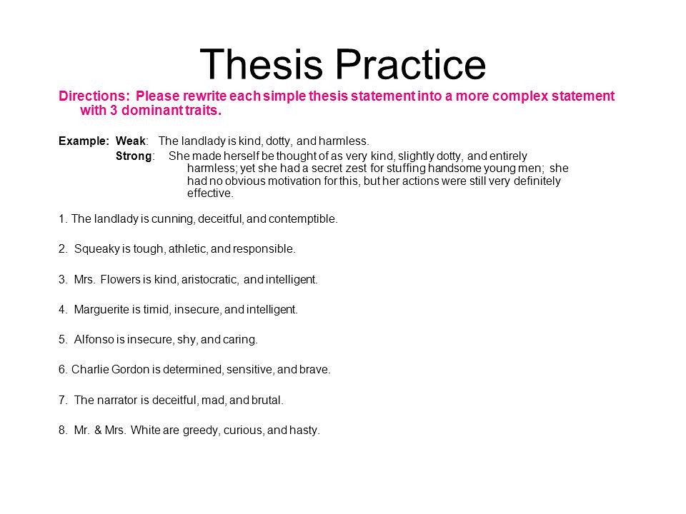 Dissertation of the thesis - Scribbr