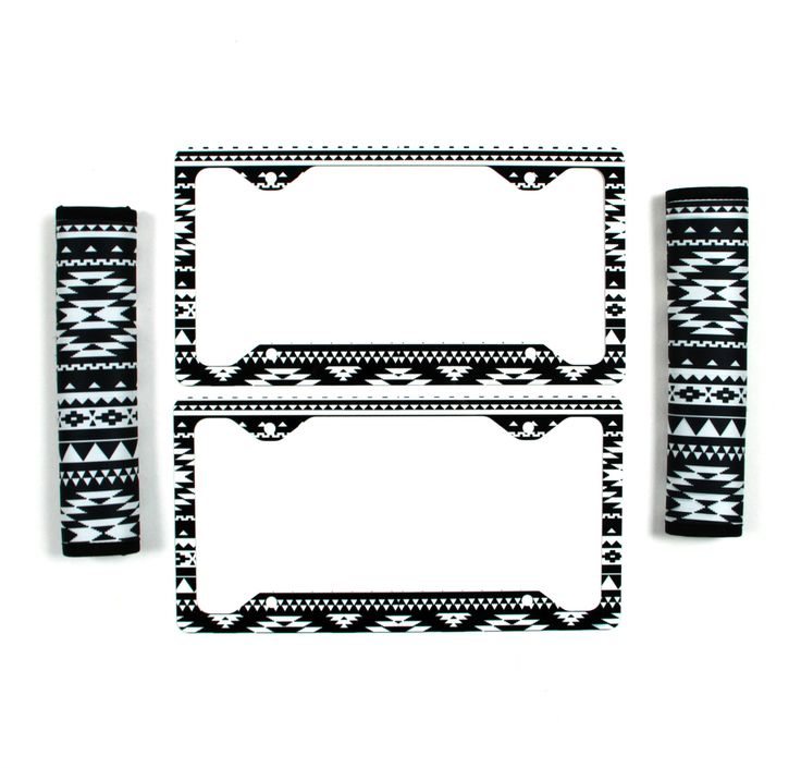 Motorcycle license plate frames with palm trees