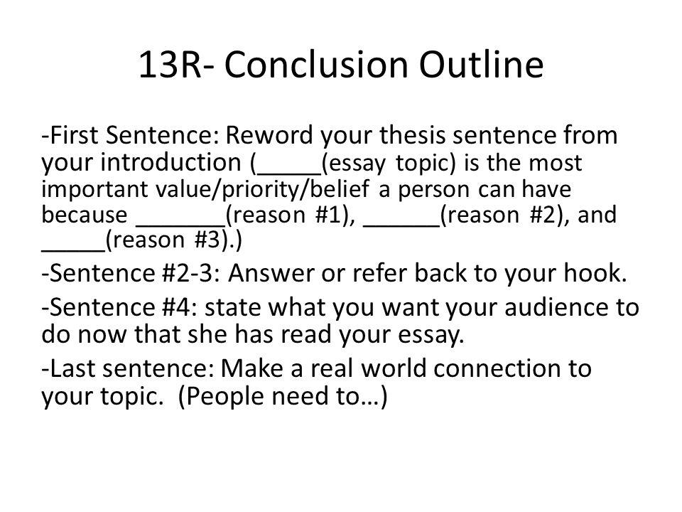 Connecting sentences in essays
