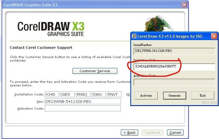 Trial serial number of corel draw x3.