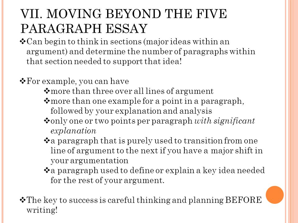 MyEducator - Moving Beyond the Five-Paragraph Essay