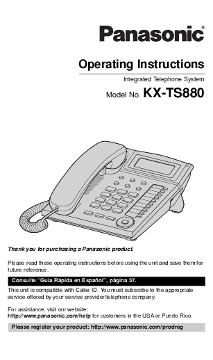 User manual PANASONIC KX-DT333 QUICK REFERENCE GUIDE