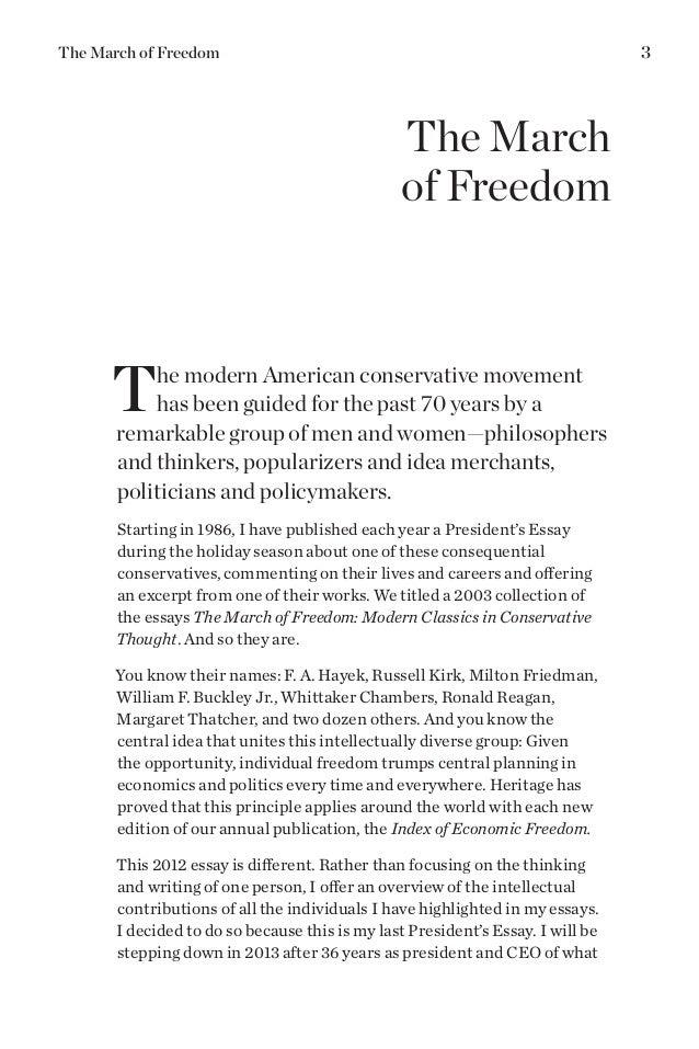 essay on american freedom
