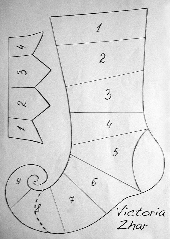 как вязань узор гусиные лапки