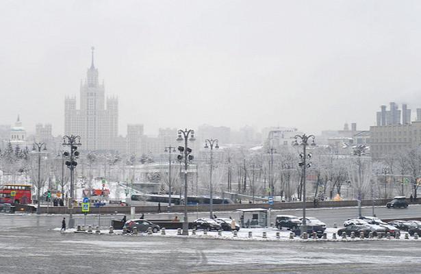Водителей вМоскве предупредили оснеге игололедице
