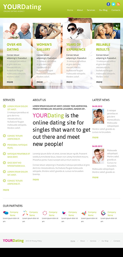 Dating website adverts