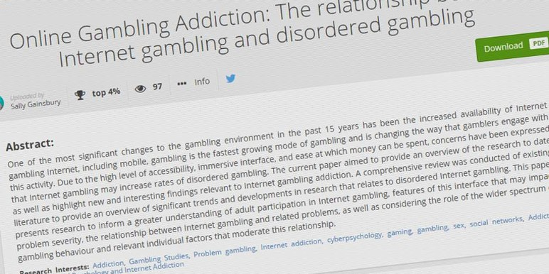 Gambling research paper