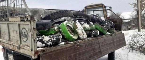 Сулиц Липецка вывезли более 3000 старых шин