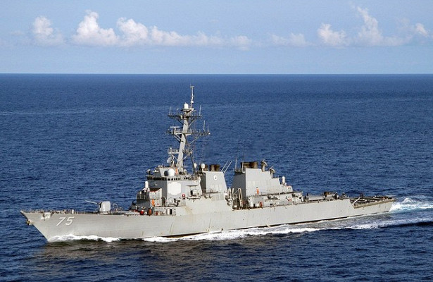 Ракетный эсминец ВМССШАушёл изЧёрного моря