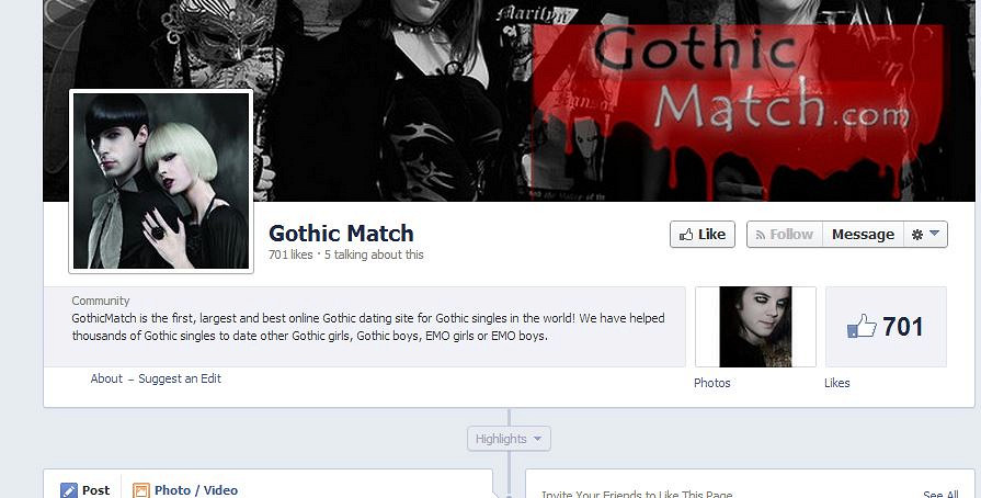Goth Passions - Free Goth Dating Registration
