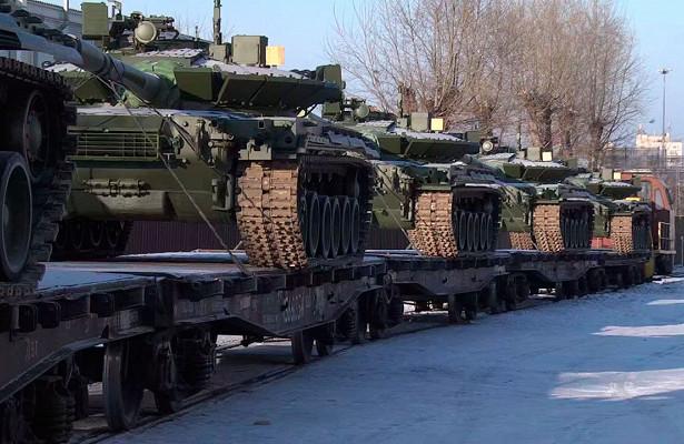 Российская армия получила партию танков Т-80БВМ