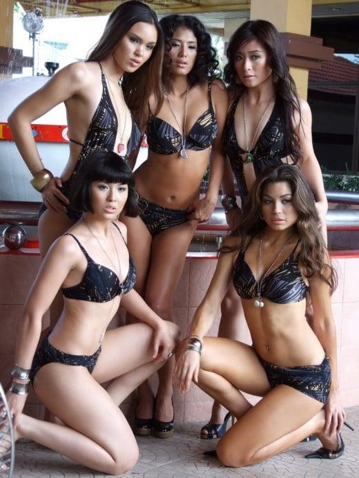 Latin women semi nude