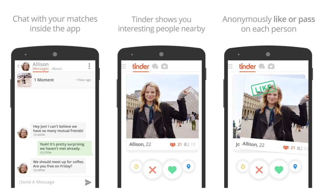 Online dating sites like tinder