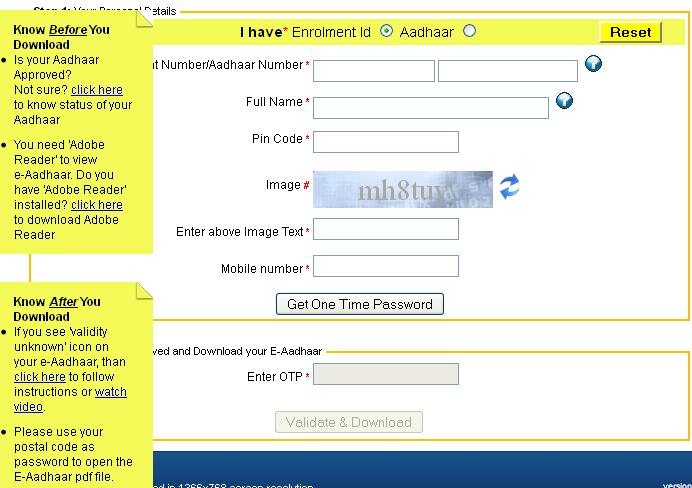 Aadhar Card Download - Steps to Download Aadhar Card