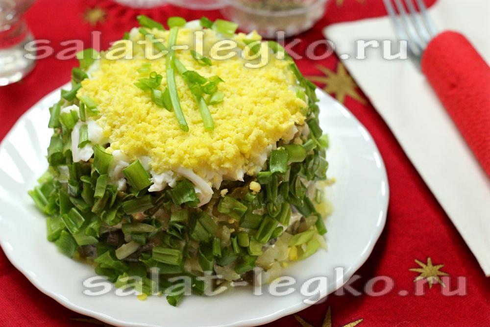 Быстрые салаты с грибами рецепты