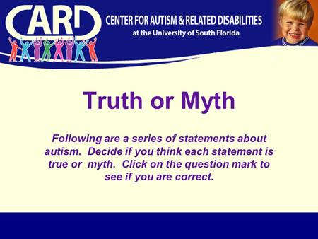 Examples of Thesis Statements on Autism