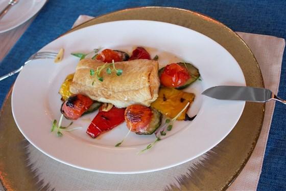 Ресторан Panorama A.S.P. - фотография 2 - Палтус из печи