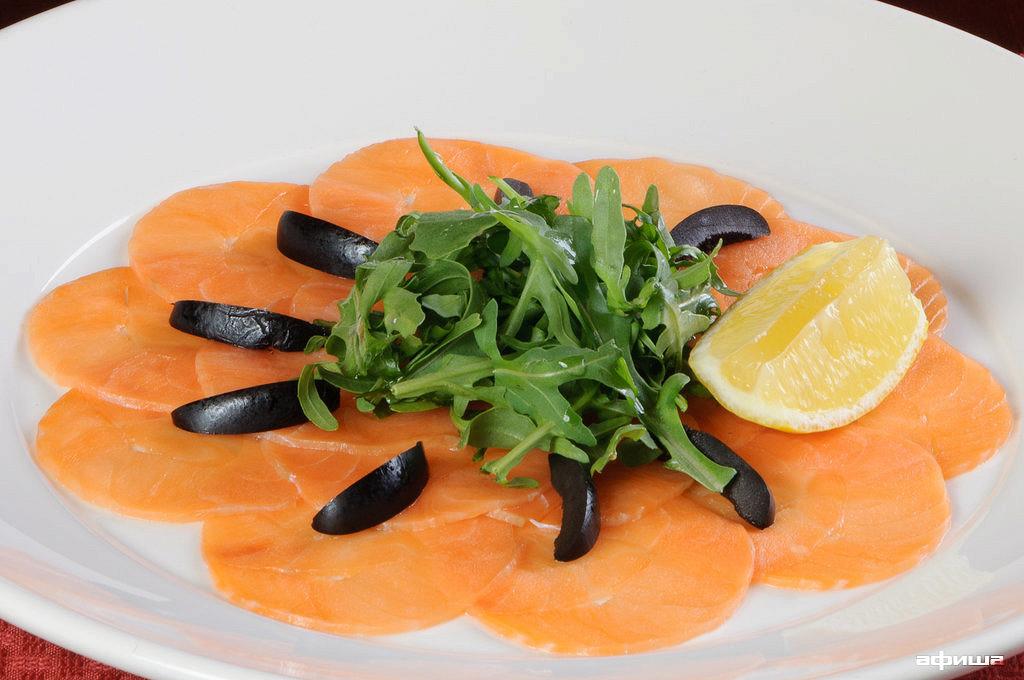 Ресторан Плотников  - фотография 17 - Карпаччо (филе лосося)