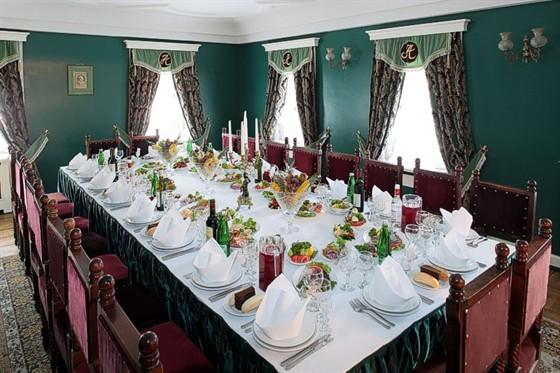 Ресторан Усадьба - фотография 6 - Зеленый зал ресторана Усадьба