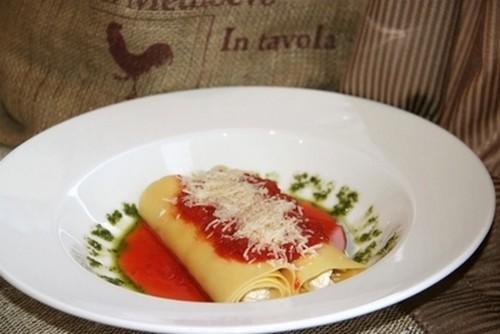 Ресторан Milano ricci - фотография 9 - Мягкие канеллоне с сыром