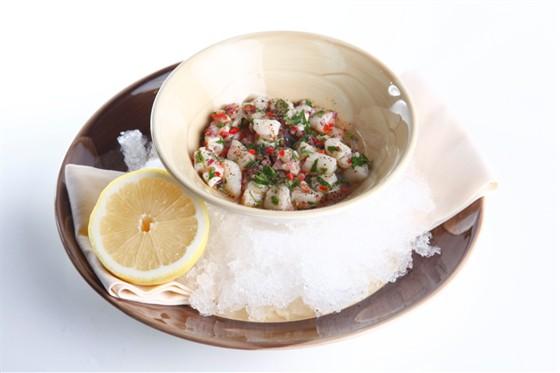 Ресторан Бутчер - фотография 25 - Севиче из морского гребешка