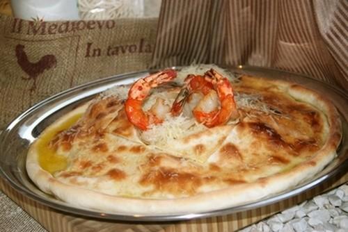 Ресторан Milano ricci - фотография 7 - Спагетти с морепродуктами и шафрановым соусом (на две персоны)
