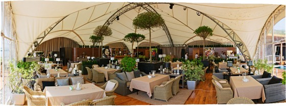 Ресторан Пирс - фотография 13 - панорама шатра