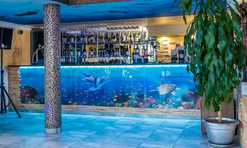 Ресторан Аквариум - фотография 2 - Аквариум, бар ресторана.