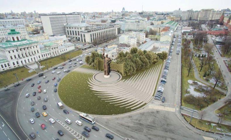 Боровицкая площадь памятник владимиру фото заказать памятник в волгограде барнауле