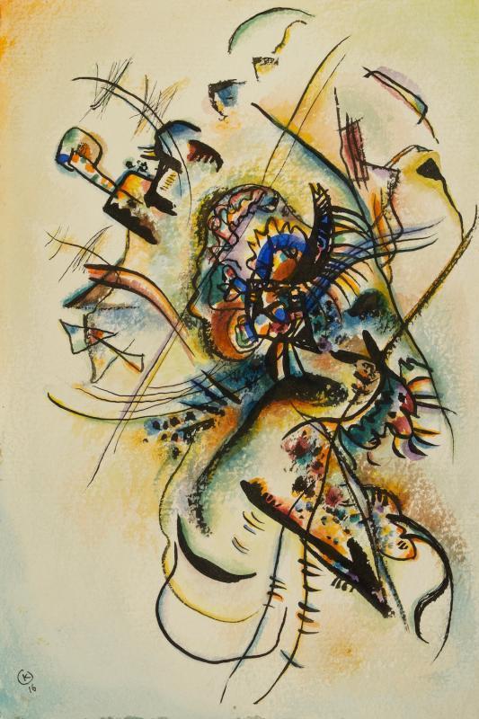 «Багатели» Василия Кандинского. Живопись на стекле, акварели и рисунки. 1915–1920 смотреть фото