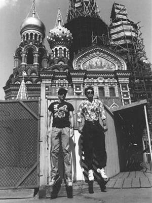 Кайзер и Сергей Курехин, предположительно 1989 год