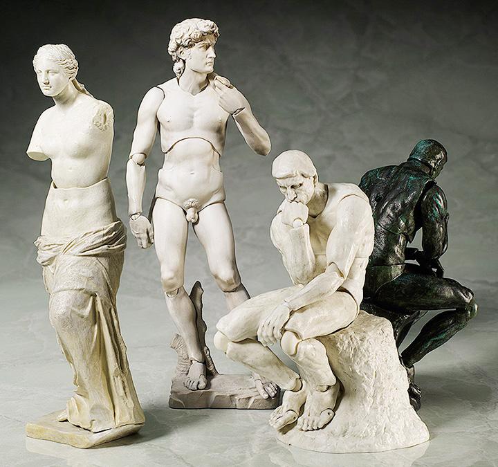 Классические скульптуры с подвижными конечностями