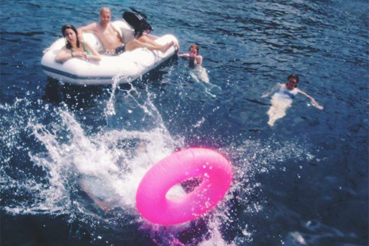 Во время плавания у Форментеры