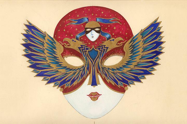 Эскиз главной награды «Золотой маски». Олег Шейнцис, 1993 г.