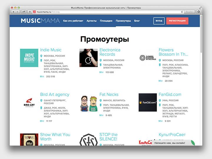 «Промоутеры» тут в самом широком смысле; и вообще этот скриншот отражает наступление новой эпохи — поскольку самый высокий рейтинг не у кого-нибудь, а у паблика «ВКонтакте»
