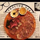 Ресторан Tolstoy Pub - фотография 4 - Мясные деликатесы собственного производства.