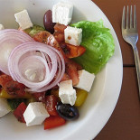 Ресторан Русская рыбалка - фотография 4 - Греческий салат