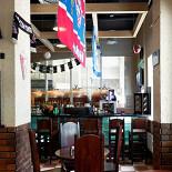 Ресторан Интер - фотография 3 - Пивной Дом «ИНТЕР» Пивной ресторан с собственной пивоварней, расположен на первом этаже гостиницы «Милан».  В ресторане проводятся трансляции спортивных мероприятий.  Бизнес-ланч: 13:00-16:00 (понедельник-пятница). Часы работы с 12:00 до 24:00 ежедневно.