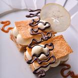 """Ресторан Le boat - фотография 6 - Мильфей с карамелизированными яблоками и кремом """"патисье"""""""
