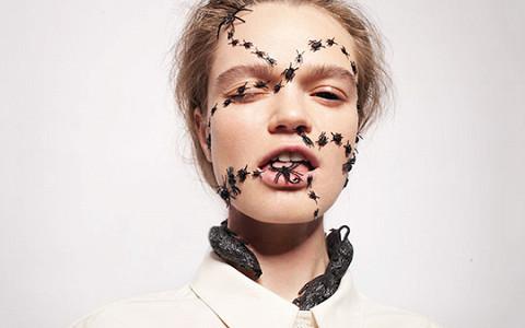 Как быстро сделать необычный макияж на Хеллоуин