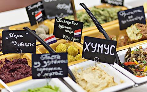 Хумус, шримп-боксы, гедза и другая интересная еда на Даниловском рынке