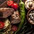 Ресторан Джонджоли - фотография 1 - Телячья вырезка с овощами на мангале