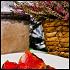Ресторан Fat Cat - фотография 22 - желтоперый тунец с томатами и цукини