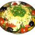 """Ресторан Джаганнат - фотография 13 - Острый """"Фрикасе"""" (1/300)  Цена: 250 руб.   Цукини, перец болгарский, томаты свежие, фасоль стручковая, семена горчицы, соус белый, йогурт, масло гхи, сыр адыгейский, сельдерей, соль, перец черный, сыр пошехонский, зелень петрушки, кунжут"""
