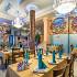 Ресторан Аквариум - фотография 8 - Настенные фрески в морском стиле.