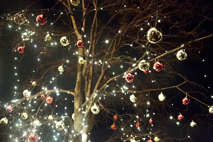 Парк толстого новый год украшение